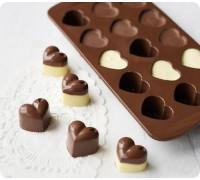 Шоколад / Лед Сердечки 12 шт 20*12*2см